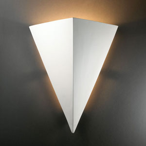 Ambiance Terra Cotta Really Big Triangle Two-Light Bathroom Wall Sconce