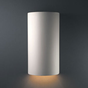 Ambiance Bisque Really Big Cylinder Bathroom Wall Sconce