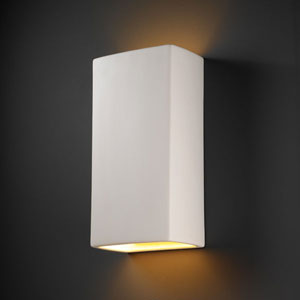 Ambiance Slate Marble Really Big Rectangle Two-Light Bathroom Wall Sconce