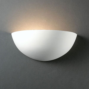 Ambiance Bisque Small Quarter Sphere Bathroom Wall Sconce