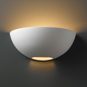 Ambiance Bisque Small Metro Bathroom Wall Sconce