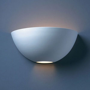 Ambiance Bisque Large Metro Bathroom Wall Sconce