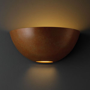 Ambiance Rust Patina Large Metro Bathroom Wall Sconce