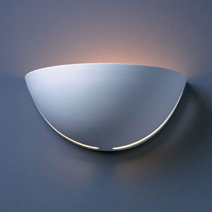 Ambiance Bisque Large Cosmos Bathroom Wall Sconce