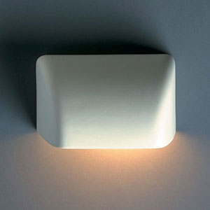 Ambiance Bisque Small Scoop Outdoor Wall Sconce