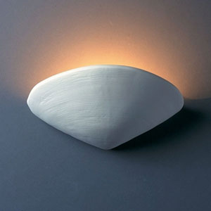Ambiance Bisque Clam Shell Bathroom Wall Sconce
