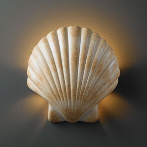 Ambiance Scallop Shell Scallop Shell Bathroom Wall Sconce