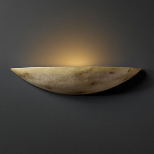 Ambiance Greco Travertine Small Sliver Bathroom Wall Sconce