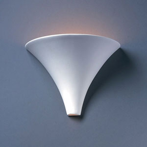Ambiance Bisque Flare Bathroom Wall Sconce