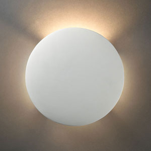 Ambiance Tierra Red Slate Circle Bathroom Wall Sconce