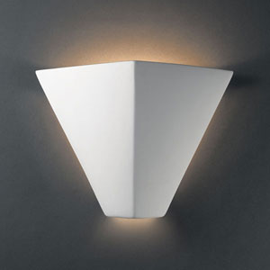 Ambiance Bisque Trapezoid Bathroom Wall Sconce