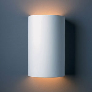 Ambiance Bisque Large Cylinder Two-Light Bathroom Wall Sconce