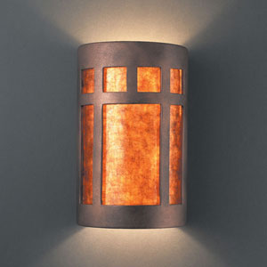 Ambiance Antique Copper Small Prairie Window Bathroom Wall Sconce