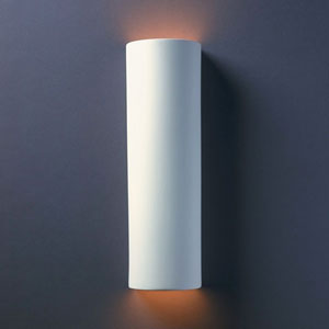 Ambiance Bisque Tube Two-Light Bathroom Wall Sconce