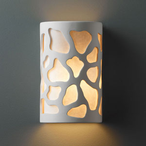 Ambiance Bisque Small Cobblestones Bathroom Wall Sconce