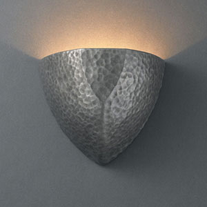 Ambiance Hammered Pewter Small Ambis Bathroom Wall Sconce