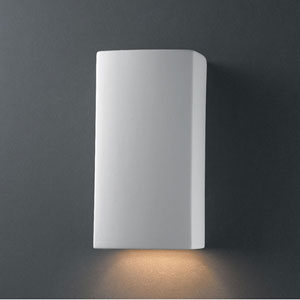 Ambiance Bisque Small Rectangle Bathroom Wall Sconce