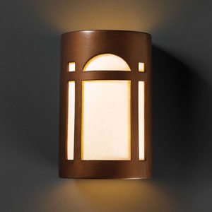 Ambiance Antique Copper Small Arch Window Bathroom Wall Sconce