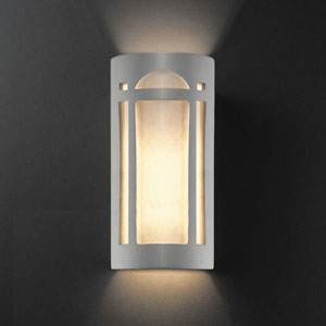 Ambiance Bisque Really Big Arch Window Two-Light Bathroom Wall Sconce