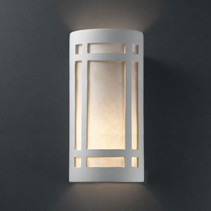 Ambiance Antique Patina Really Big Craftsman Window Two-Light Bathroom Wall Sconce