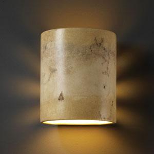 Sun Dagger Mocha Travertine Sun Dagger Small Cylinder Bathroom Wall Sconce