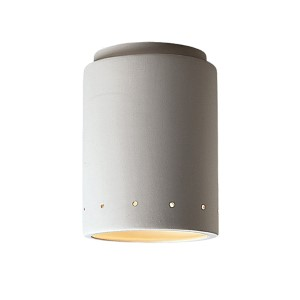 Radiance Bisque LED Cylindrical Flush Mount with Perforations