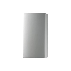 Ambiance Hammered Pewter 4.5-Inch LED Small Rectangular Wall Sconce with Closed Top