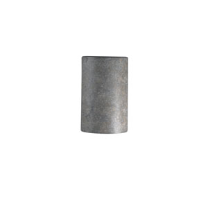 Ambiance Hammered Pewter 4.5-Inch LED Small Cylindrical Wall Sconce with Closed Top