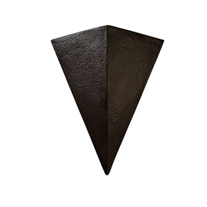 Ambiance Hammered Iron LED Big Triangle Wall Sconce