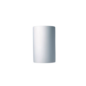Ambiance Bisque 6.25-Inch LED Large Cylindrical Wall Sconce with Closed Top