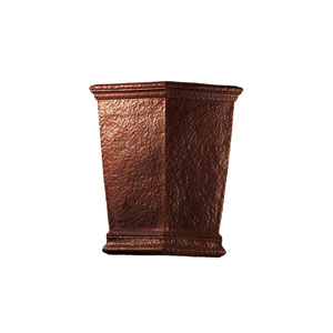 Ambiance Hammered Copper LED Big Americana Wall Sconce