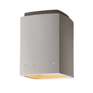 Radiance Antique Patina LED Rectangular Flush Mount with Perforations
