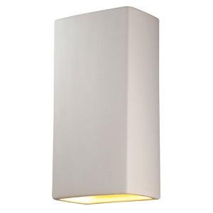 Ambiance Slate Marble LED Big Rectangular Wall Sconce with Closed Top