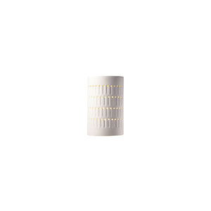 Ambiance Bisque LED Small Cactus Cylindrical Wall Sconce with Opened Top and Bottom
