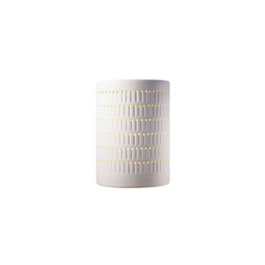 Ambiance Bisque LED Large Cactus Cylindrical Wall Sconce with Opened Top and Bottom