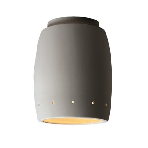 Radiance Real Rust LED Curved Flush Mount with Perforations