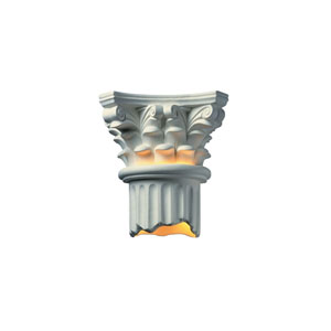 Ambiance Bisque LED Corinthian Column Wall Sconce with Bottom Opened