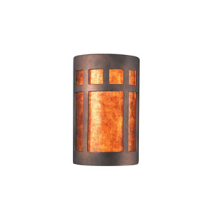 Ambiance Granite LED Large Prairie Window Wall Sconce with Mica Shade