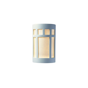 Ambiance Bisque 4-Inch LED Large Prairie Window Wall Sconce with White Styrene Shade