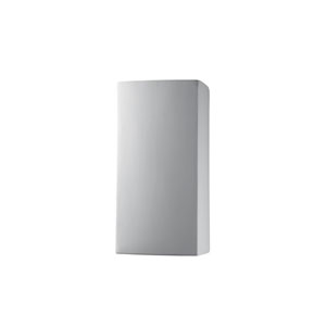 Ambiance Bisque 4-Inch LED Large Rectangular Wall Sconce with Opened Top and Bottom