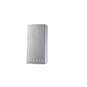 Ambiance Bisque 4-Inch LED Large Rectangular Wall Sconce with Perforations and Closed Top