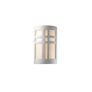 Ambiance Navarro Sand LED Large Cross Window Outdoor Wall Sconce with White Styrene Shade