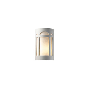 Ambiance Bisque 6.25-Inch LED Large Arch Window Wall Sconce with White Styrene Shade