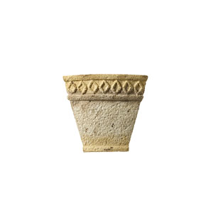 Tuscan Garden Greco Travertine LED Small Tapered Wall Sconce with Diamond Design