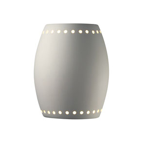 Sun Dagger Bisque LED Pillowed Cylindrical Wall Sconce