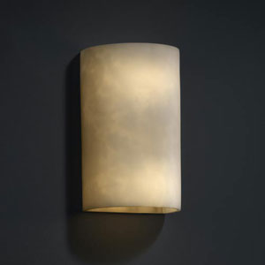 Clouds 1000 Lumen LED Small Cylinder Sconce with Open Top and Bottom