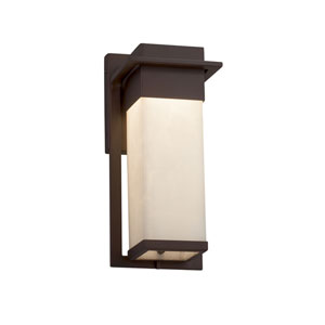 Clouds - Pacific Dark Bronze LED Outdoor Wall Sconce with Off-White Clouds Resin
