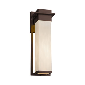 Clouds - Pacific Dark Bronze 17-Inch LED Outdoor Wall Sconce with Off-White Clouds Resin