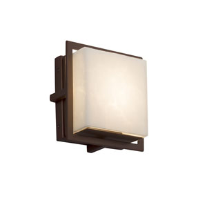 Clouds - Avalon Dark Bronze Seven-Inch LED Outdoor Wall Sconce with Off-White Clouds Resin