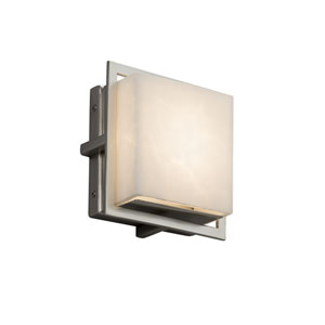 Clouds - Avalon Brushed Nickel Seven-Inch LED Outdoor Wall Sconce with Off-White Clouds Resin